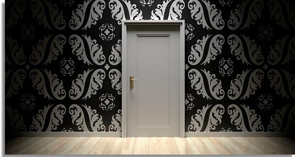 porta fechada para indicar isolamento