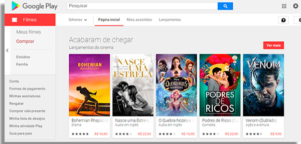 sites para ver filmes googlefilmes