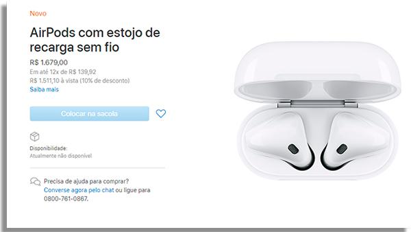 pagina de vendas dos fones de ouvido