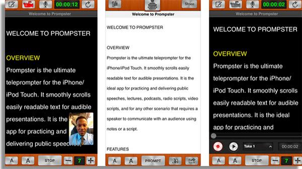aplicativos de teleprompter para youtube prompster
