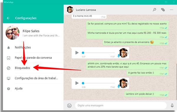 como usar whatsapp pelo pc bloqueados