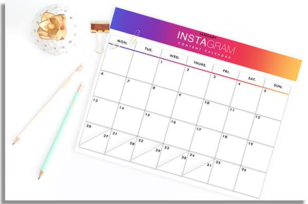 calendario de postagens nas ferramentas