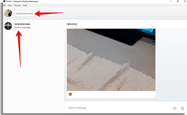 buscar usuarios para chat no igdm