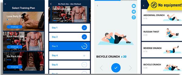 aplicativos de exercicios fisicos sixpack