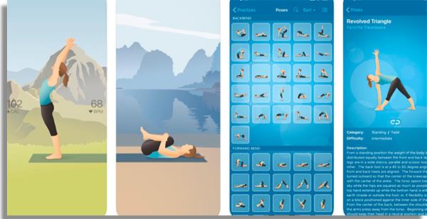 treine yoga com esse app