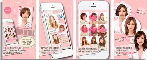 aplicativos que mudam a cor do cabelo chouchou