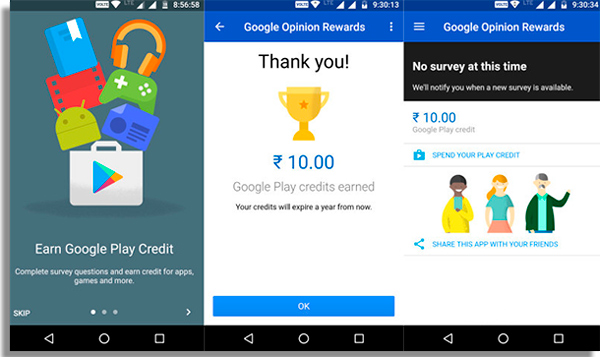 Google Opinion Rewards download paid apps for free