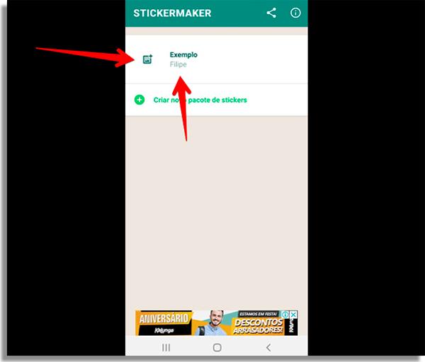 como criar figurinhas no whatsapp exemplo