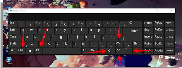 use essa combinacao no teclado