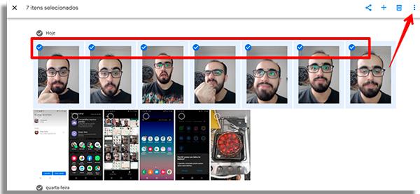 como passar fotos do celular para o PC menu
