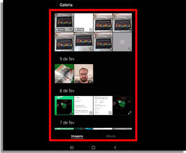 escolha a foto do papel de parede ao configurar aparelho android