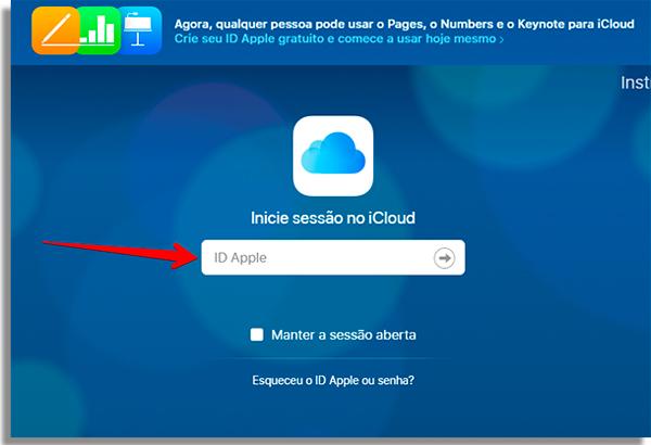 acesse sua conta na nuvem para formatar o tablet