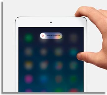 reinicie o tablet para fazer com que ele funcione de novo