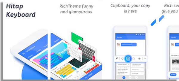 melhor teclado para android hitap