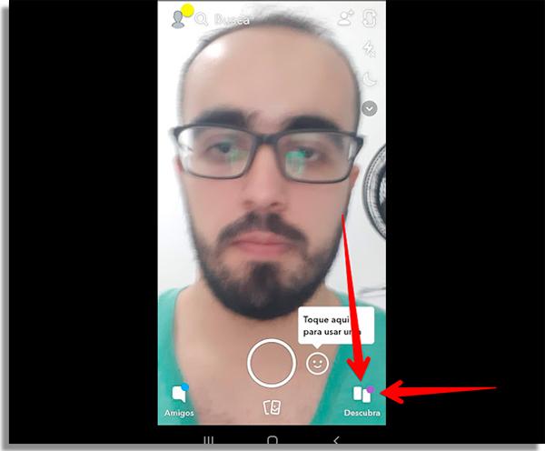 acesse a aba de descoberta do app