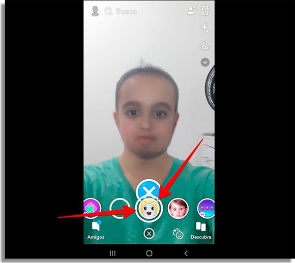 novo filtro do snapchat foto