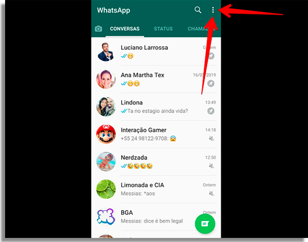 whatsapp hackeado menu