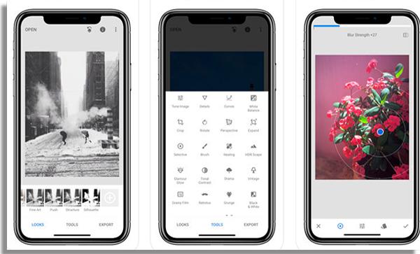 aplicativos para melhorar fotos snapseed
