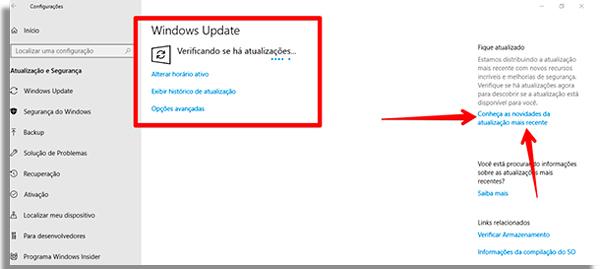 como atualizar o windows 10 novidades