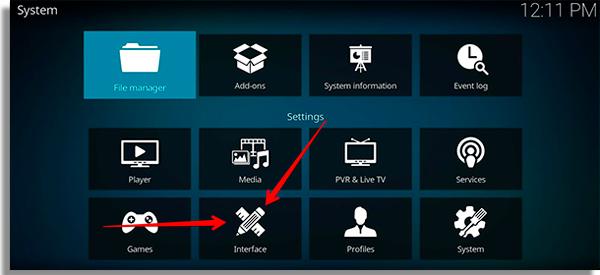 como usar o kodi interface