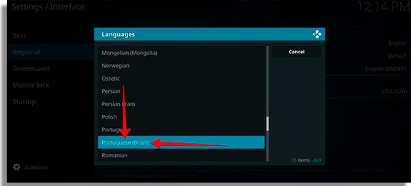 troque o idioma do app para portugues