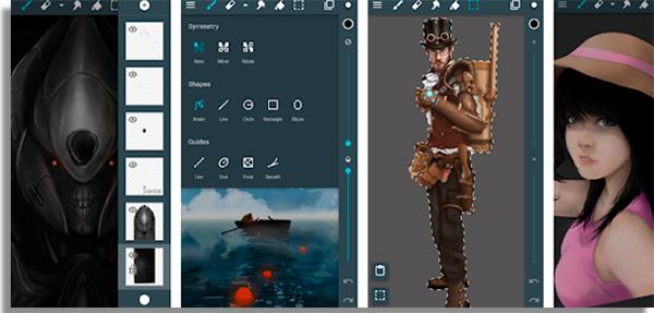 use artflow para desenhar e colorir