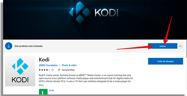 kodi para pc abrir