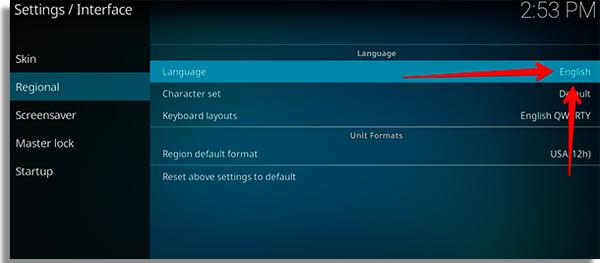 kodi para pc language