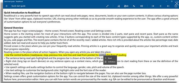 lectores de audio PDF read aloud