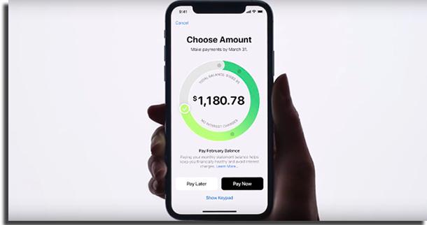 Apple Card Tela de Pagamento da Fatura