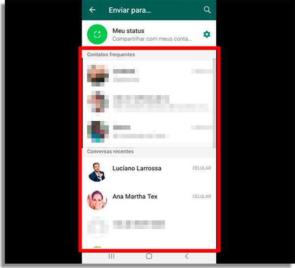 como compartilhar link instagram whatsapp contatos