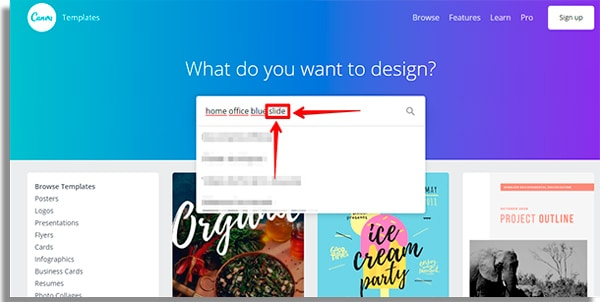 slide how to use Canva
