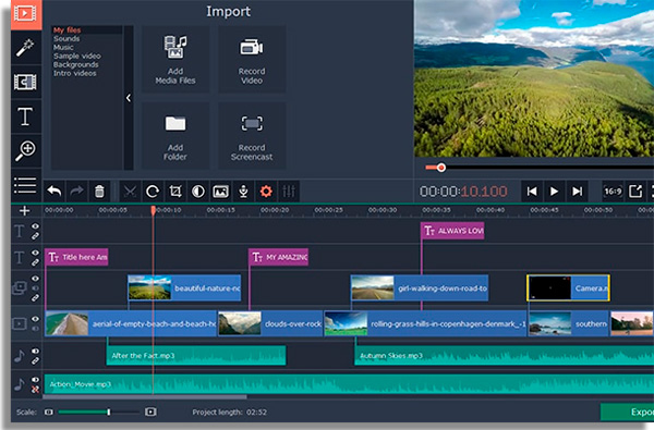 editores video pc movavi