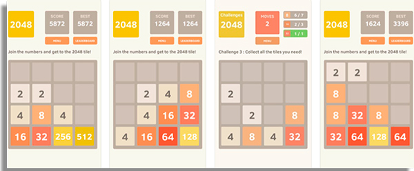 2048 e um classico game matematico