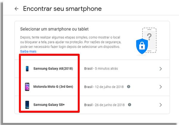 rastrear celular android escolher