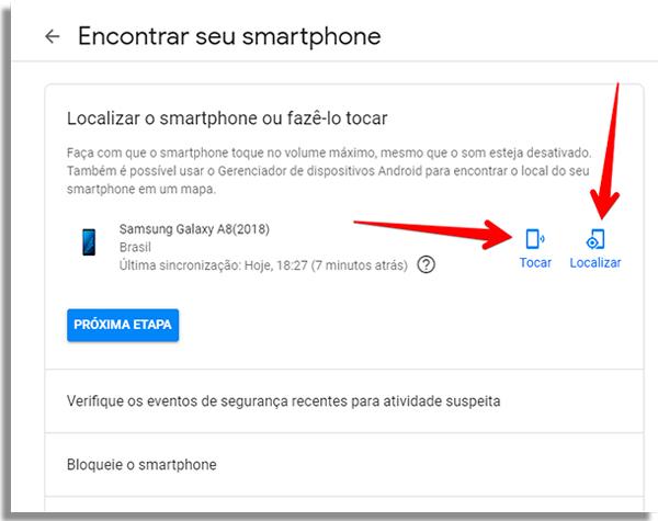 rastrear celular android localizar