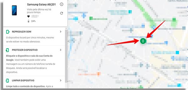 encontre seu aparelho no mapa