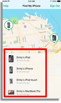 rastrear celular iphone escolher