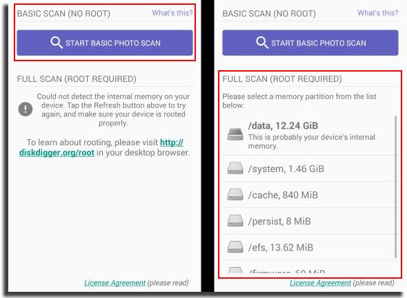 recuperar vídeos apagados do Android Disk Digger Como Usar