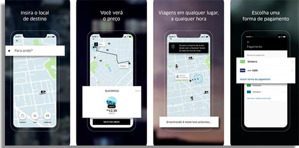 aplicativos carona uber