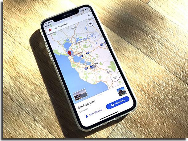 Comandos de Voz da Siri Mapas