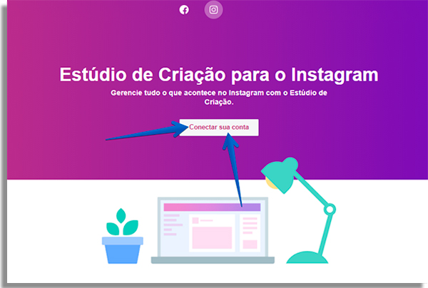 como agendar posts direto instagram conectar