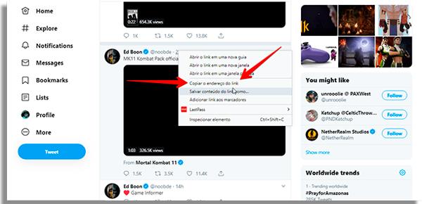 como baixar videos twitter copiar
