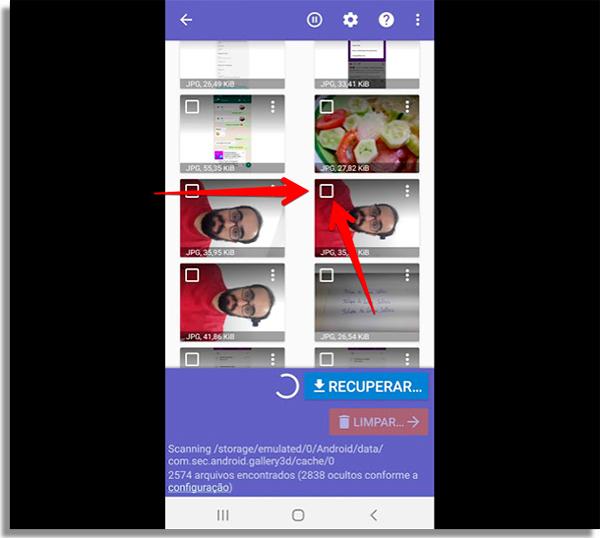 como recuperar fotos apagadas android escolher
