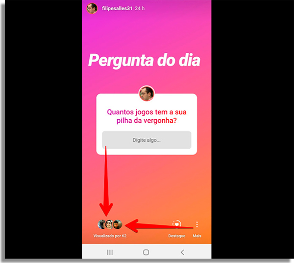 como responder perguntas instagram visualizacoes