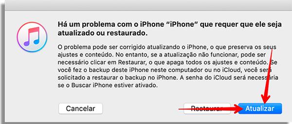 conserto iphone atualizar
