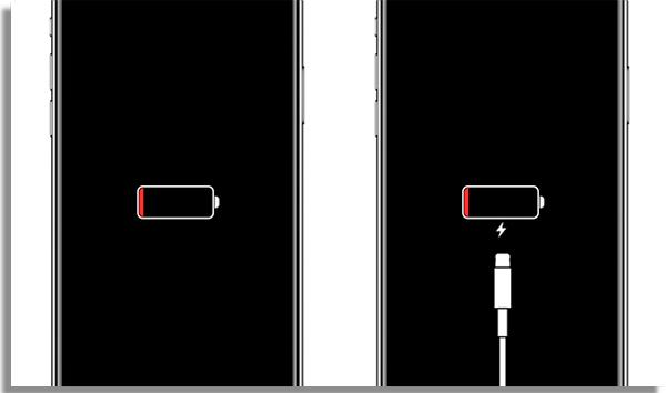 coloque o celular no carregador para testar a bateria