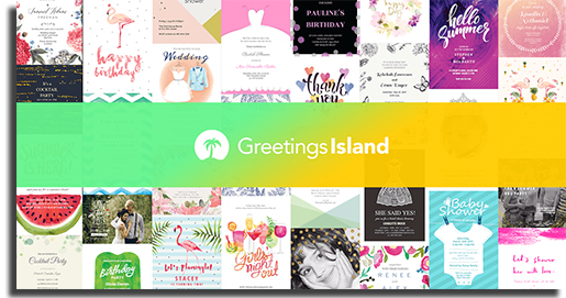aplicativos para fazer convites greetings island