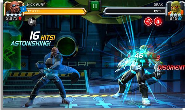melhores jogos luta android marvel