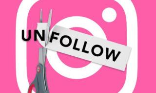 deixar de seguir no instagram